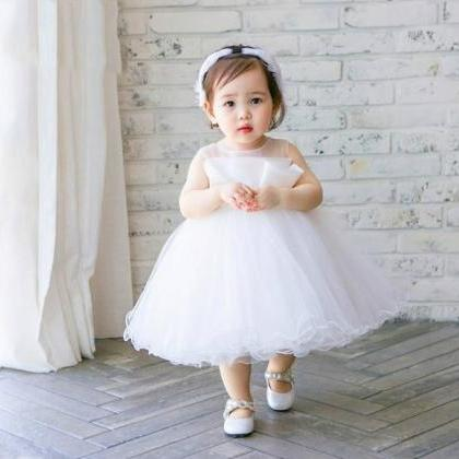 Flower girl dress, White flower gir..