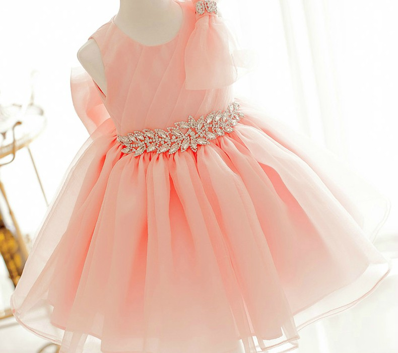 5dfa5dfe2b933 Flower Girl Dress, New Orange Birthday Dress, Light Orange ...