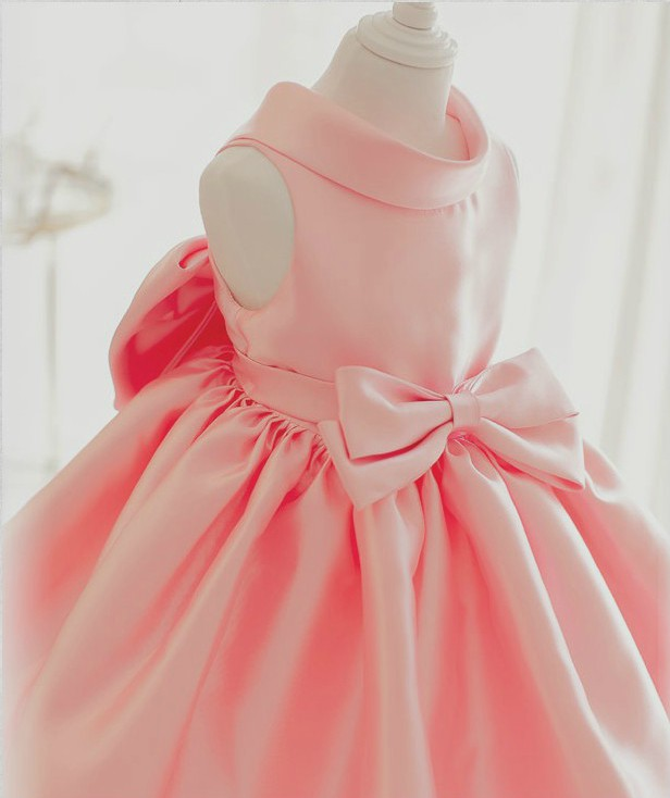 Flower Girl Dress, Light Pink Baby Girl Party Dress, Pinnk ...
