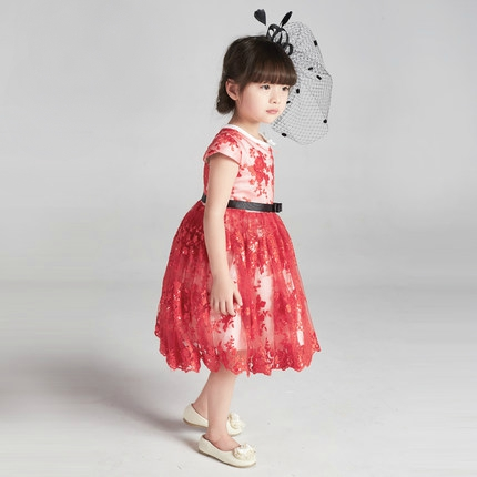 Red Dress, Red Baby Dress, Red Lace Girl Dress, Birthday Dress, Baby ...